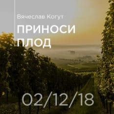 02-12-2018 — Приноси плод