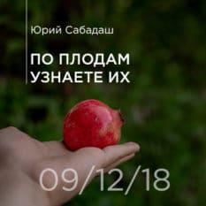 09-12-2018 — По плодам узнаете их